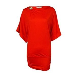 MICHAEL Michael Kors Logo Boat-Neck Tunic Cover-Up